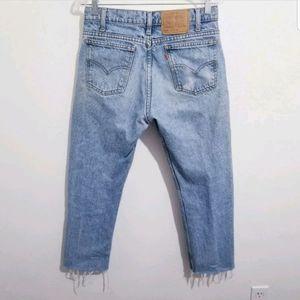 Vintage Levi's crop jeans